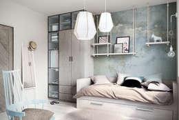 Wrocław / Grabiszynek, apartament 92m2: styl , w kategorii Pokój dziecięcy zaprojektowany przez razoo-architekci