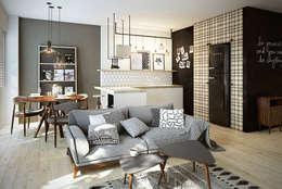 Die Wohnidee Für Kleine Räume. Skandinavische Wohnzimmer Von  Razoo Architekci