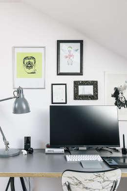 Podgórze, Kraków: styl , w kategorii Domowe biuro i gabinet zaprojektowany przez Odwzorowanie