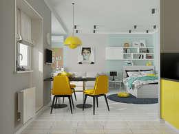 Мятный Glam: Гостиная в . Автор – EEDS design