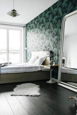 Podgórze, Kraków: styl , w kategorii Sypialnia zaprojektowany przez Odwzorowanie