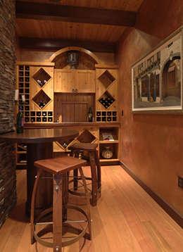Projekty,  Piwnica win zaprojektowane przez Uptic Studios