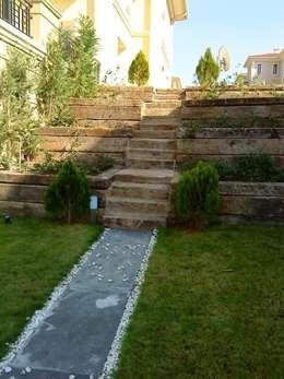 BATUBA Mimarlık Restorasyon Danışmanlık  – Pelikan Hil Villa Peyzaj: modern tarz Bahçe