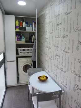 Ideas para ocultar la zona de lavado en la cocina o en el ba o for Cocina y lavadero integrados