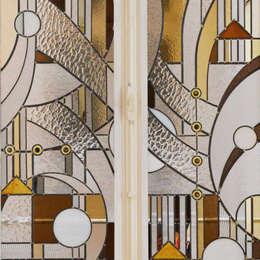 Catherine Nafziger - Atelier Kats Vitrail: modern tarz Pencere & Kapılar