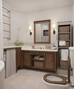 Baños de estilo rústico de MJMarchdesign