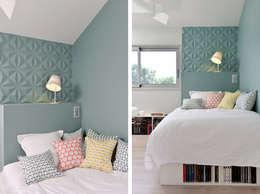 Aménagement et décoration d'une maison à Genève: Chambre de style de style Moderne par Marion Lanoë Architecte d'Intérieur