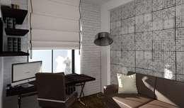 Oficinas de estilo industrial por Дизайн-студия HOLZLAB