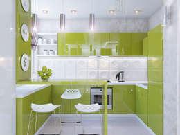 Двух этажная квартира 82 кв.м.: Кухни в . Автор – Ольга Рыбалка