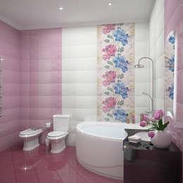Projekty,  Łazienka zaprojektowane przez Виктория Лаврик