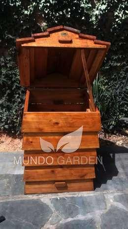 Compost Modular: Jardines de estilo rústico por Mundo Garden