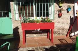 Huerta organica en dos tablas : Jardines de estilo rústico por Mundo Garden