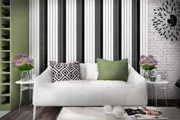 Salas de estilo minimalista por Дизайн-студия HOLZLAB