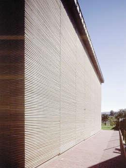 elewacja boczna: styl nowoczesne, w kategorii Domy zaprojektowany przez Atelier Loegler Architekci