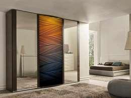 Panele 3D jako fronty meblowe: styl , w kategorii Garderoba zaprojektowany przez Luxum