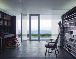 アトリエ環 建築設計事務所의  서재 & 사무실