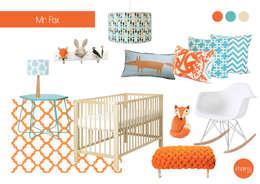 Chambre d'enfant de style de style eclectique par Kinderoo Childrens Interiors