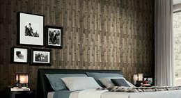 Dormitorios de estilo moderno por Papel Pintado Saint Honoré