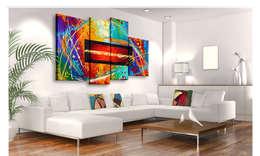 Paredes y pisos de estilo moderno por Bimago