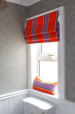ROMAN BLIND: modern Bathroom by NEAT PLEAT
