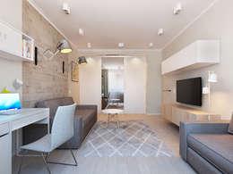 scandinavian Living room by Ekaterina Donde Design