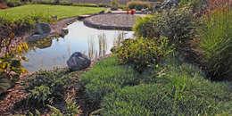 oczko jeszcze przed powstaniem altany : styl , w kategorii  zaprojektowany przez Autorska Pracownia Architektury Krajobrazu Jardin