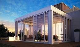 Jardines de invierno de estilo minimalista por Le Verande srls