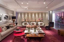 Salas / recibidores de estilo moderno por Arina Araujo Arquitetura e Interiores