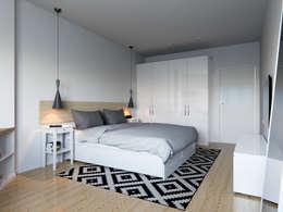 Projekty,  Sypialnia zaprojektowane przez Kristina Petraitis Design House
