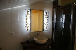 Miroir Salle de Bain lumineux en vitrail Tiffany: Art de style  par Lumière et Vitrail