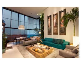eclectic Living room by Arquitetura 3