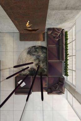 Пентхаус для скульптора: Гостиная в . Автор – Anton Medvedev Interiors