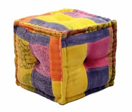Handmade Poufs Otttomans: classic Dressing room by Natural Fibres Export