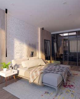 Квартира для молодой пары: Спальни в . Автор – Котова Ольга