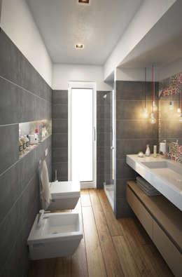 Baños de estilo moderno por Beniamino Faliti Architetto