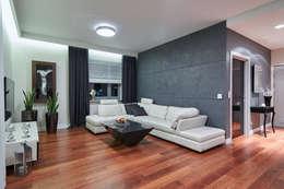 Salas de estilo moderno por ARCHINSIDE STUDIO KATARZYNA PARZYMIES