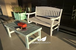 Banco de Jardín / Exterior / Interior, Mundo Garden: Jardines de estilo clásico por Mundo Garden