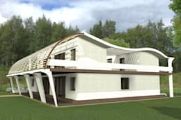 Side view. : modern Houses by Kay Studio