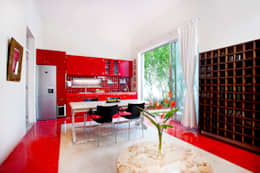 Sala da pranzo in stile in stile Moderno di Taller Estilo Arquitectura