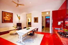 Casa Santiago 49: Comedores de estilo moderno por Taller Estilo Arquitectura