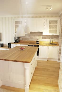 Mieszkanie w stylu klasycznym: styl , w kategorii Kuchnia zaprojektowany przez Limonki Studio Wojciech Siudowski