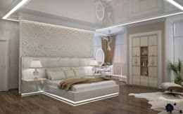 Двухуровневая квартира в Севастополе: Спальни в . Автор – Дизайн - студия Пейковых