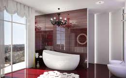 Двухуровневая квартира в Севастополе: Ванные комнаты в . Автор – Дизайн - студия Пейковых