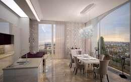 Двухуровневая квартира в Севастополе: Кухни в . Автор – Дизайн - студия Пейковых