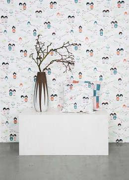 Projekty, skandynawskie Ściany i podłogi zaprojektowane przez Photowall