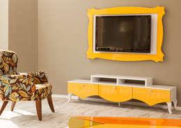 Sanal Mobilya – Elit Country TV Ünitesi: modern tarz Oturma Odası