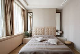Dormitorios de estilo minimalista de АРХИТЕКТУРНОЕ БЮРО АНДРЕЯ КАРЦЕВА И ЮЛИИ ВИШНЕПОЛЬСКОЙ