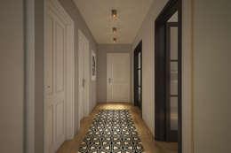 Couloir et hall d'entrée de style  par yücel partners