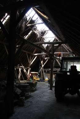 oude situatie: moderne Garage/schuur door Arend Groenewegen Architect BNA