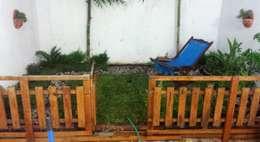 jardín muy pequeño - patio trasero - 13 m2:  de estilo  por Zen Ambient